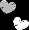ハートのマーク・灰色と白