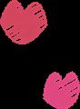 唇キスマーク・ピンク