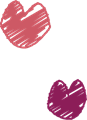 唇キスマーク・ピンクと紫