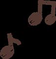 ルンルン音符のマーク・茶色