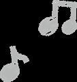 ルンルン音符のマーク・灰色