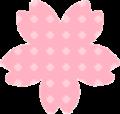 桜の花白ドット柄