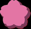 桜型ラベルフレーム枠・半透明影付き