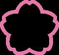 桜型ラベルフレーム枠・切り抜き