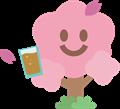 桜の花がジュースで乾杯イラスト素材