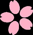 桜の花弁と花びらイラスト