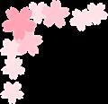 桜の枠、左上