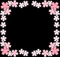 桜の花フレーム
