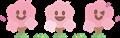 笑顔の桜横並び3本 ミニサイズ