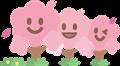 笑顔の桜並木