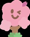ウインクする桜