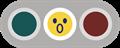 驚き顔の黄色信号