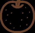 梨の線画イラスト