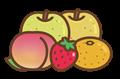 人気の果物盛り合わせイラスト