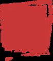 マジック、マーカー、ペンキ風手書き記号イラストの小数点ピリオド・赤色