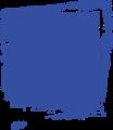 マジック、マーカー、ペンキ風手書き記号イラストの小数点ピリオド・青色