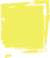 マジック、マーカー、ペンキ風手書き記号イラストの小数点ピリオド・黄色