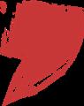 マジック、マーカー、ペンキ風手書き記号イラストの桁区切りカンマ・赤色