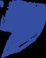 マジック、マーカー、ペンキ風手書き記号イラストの桁区切りカンマ・青色