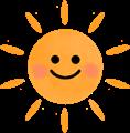 ほっぺがかわいい太陽