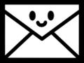 かわいいメールアイコンのイラスト