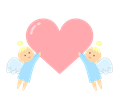 愛を運ぶ天使イラスト・シンプル塗り