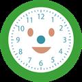 笑顔の時計の文字盤イラスト