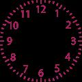 時計の文字盤のみイラスト