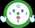 ポイントポーズ時計のイラスト・針なし版
