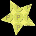 星型ゴールドポイントメダルイラスト