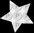 星型シルバーポイントメダルイラスト