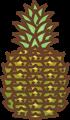 パイナップルのイラスト・カラー