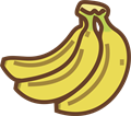 バナナのイラスト・カラー