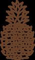 パイナップルのイラスト・線画