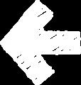 ボールペン書き矢印のイラスト・短い直線型・白色