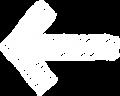 ボールペン書き矢印のイラスト・直線型・白色