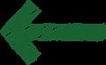 ボールペン書き矢印のイラスト・直線型・深緑色