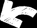 ボールペン書き矢印のイラスト・短い曲線型・白色