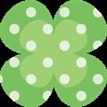 クローバーパーツ、緑に白ドット柄