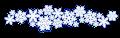 雪の結晶イラストのフレーム