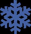 雪の結晶のマークイラスト・青色
