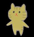 トラ猫のほのぼの手書きイラスト