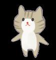 きじ猫のほのぼの手書きイラスト