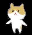 茶ブチ猫のほのぼの手書きイラスト