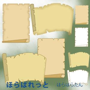 古い紙のフレーム(古い地図、古文書、手配書風)