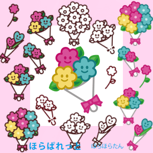 簡単かわいい花束イラスト
