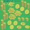 金貨コインイラスト($、¥) / 一枚~山盛り