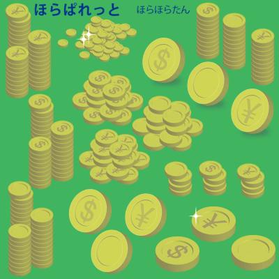 金貨コインイラスト(アイコン向け1枚、タワー積み、山盛りコインなど)