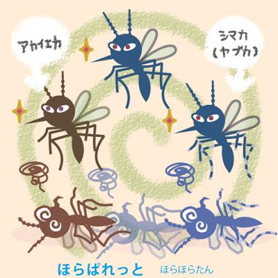蚊対策記事に、蚊のイラスト素材
