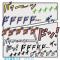 少年漫画的効果音イラスト6種類 / ドドド、ゴゴゴ、他